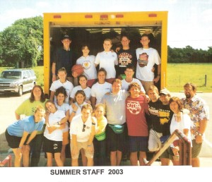 Photo of my summer staff in 2003.