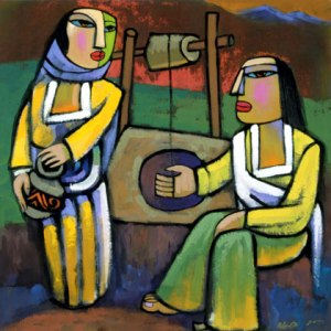 Depiction of Jesus with the Woman at the Well. Photo Credit: http://www.heqigallery.com/gallery/gallery3/pages/6-SamaritanWomanAtTheWell.html