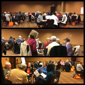 """Participants at Work during """"Begin the Conversation"""" at the Diocese of Ohio"""