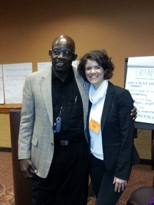 Celebrating the close of the session with Charles, one of the co-facilitators and a member of CRU.
