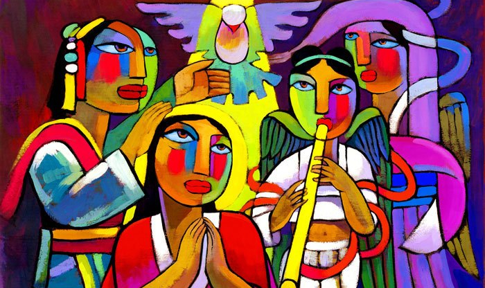 Baptism of Jesus Proof by He Qi https://www.heqiart.com/store/p59/17a_Baptism-of-Jesus_Artist_Proof.html